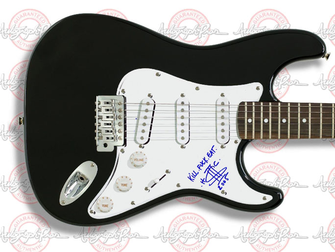 American Head Charge Signed Autographed Guitar UACC RD    AFTAL