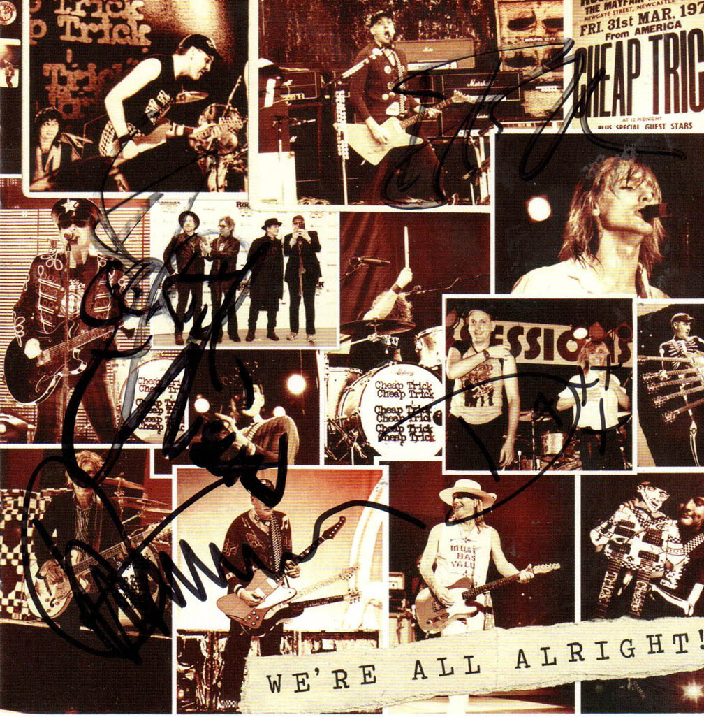 Cheap Trick Autographed Were All Alright Cd Cover RACC TS UACC RD AFTAL