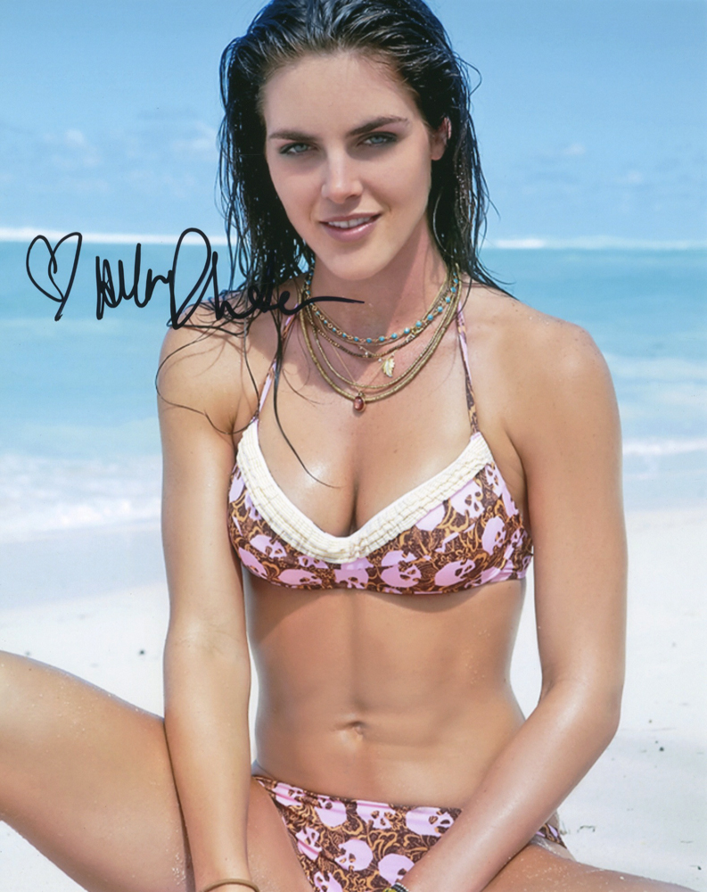 Hilary Rhoda Autographed Sexy Skull Bikini Photo 5908a Trisha hot photo gallery from Teen maar movie
