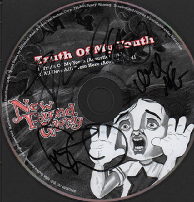 New Found Glory Autographed Signed Truth Of My Youth CD PSA