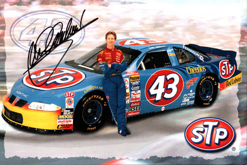 John Andretti Autographed Signed STP Promo Card