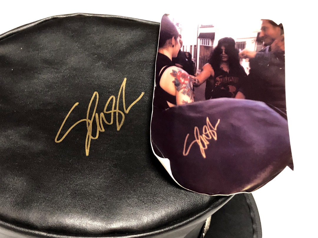 Guns N Roses Slash Autographed Leather Top Hat Exact Proof RACC TS AFTAL