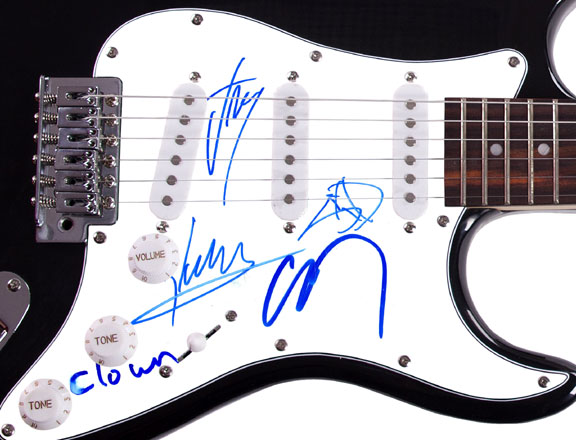 Slipknot Autographed Liberating Manchester Signed Guitar Exact Video Proof