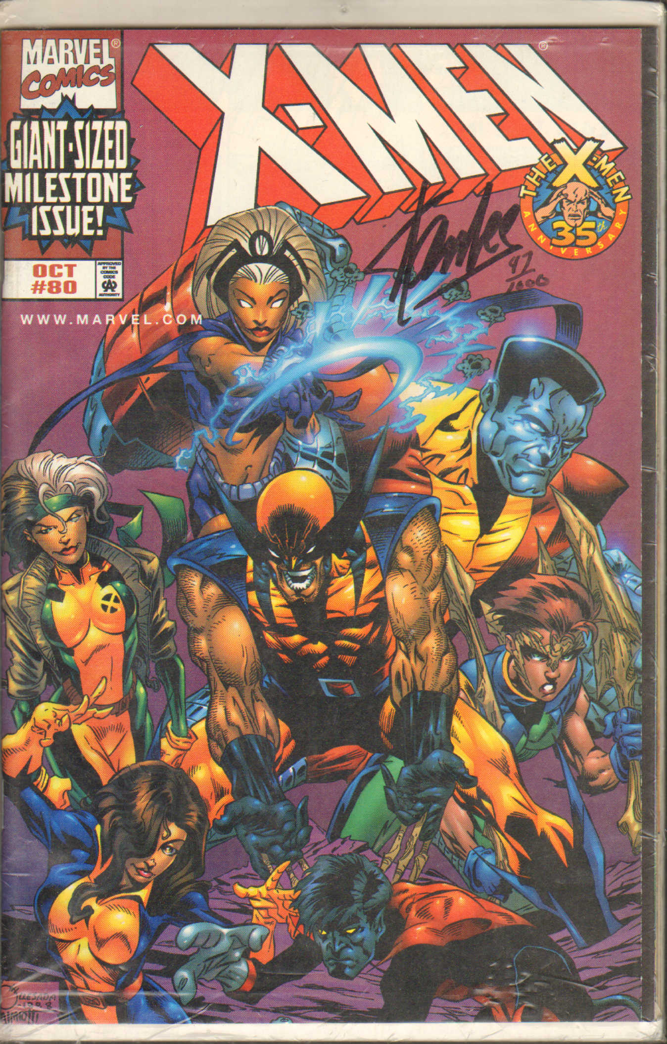 Stan Lee Autographed Signed X-Men 35th Anniversary Comic