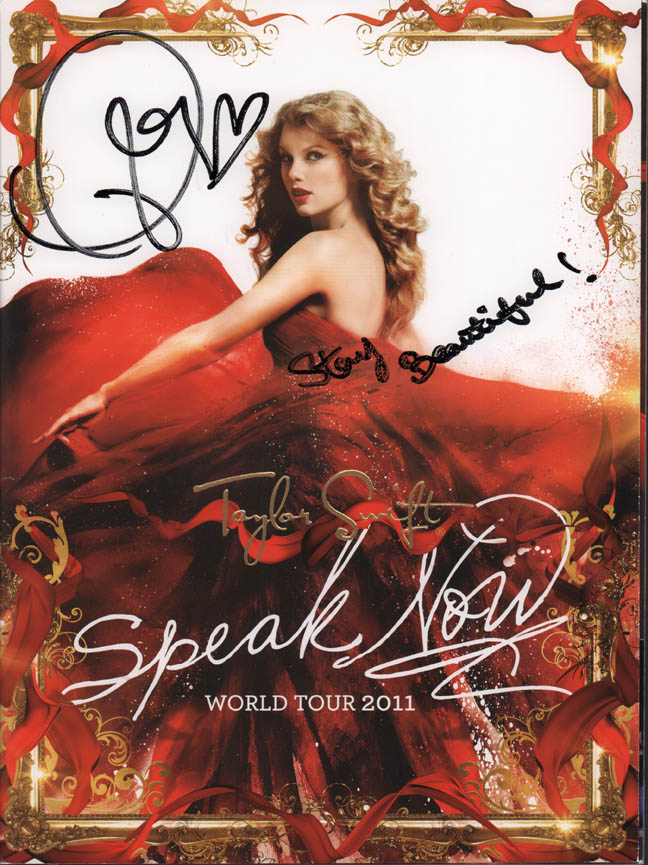 Taylor Swift Autographed Double Signed Tour Book