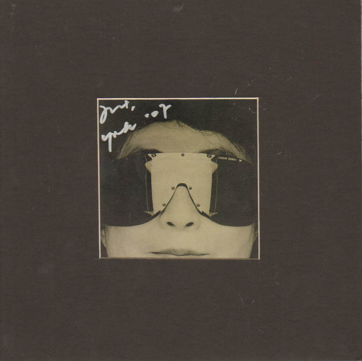 Yoko Ono Autographed Yes Im A Witch CD Cover Custom Display