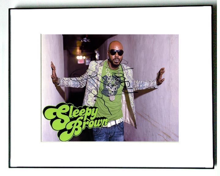 Sleepy Brown Autographed Signed Styling Photo   AFTAL