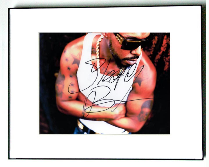 Sleepy Brown Autographed Signed Cool Tattoos Photo   AFTAL