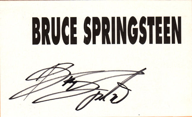 Bruce Springsteen Autographed Signed 8x5 Name Paper UACC RD COA AFTAL