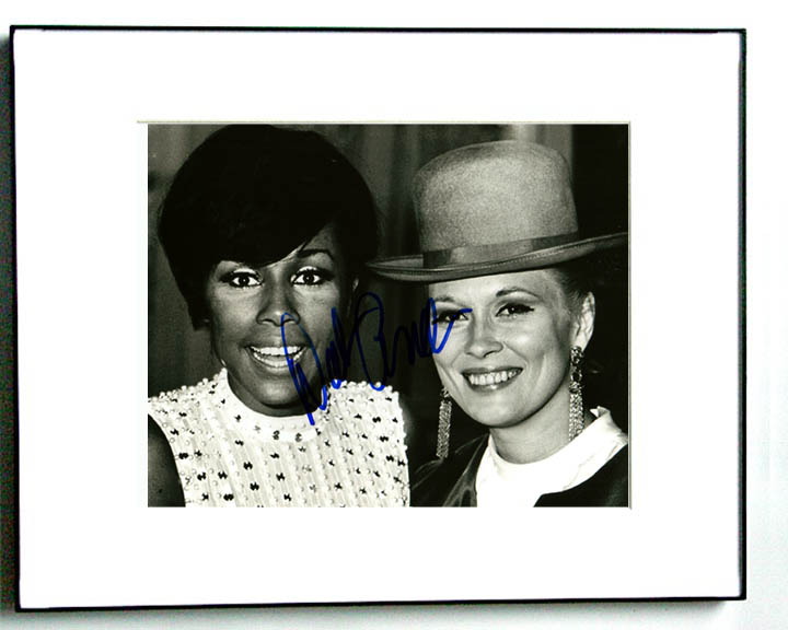 Diahann Carroll Autographed Signed Framed Vintage Photo   AFTAL