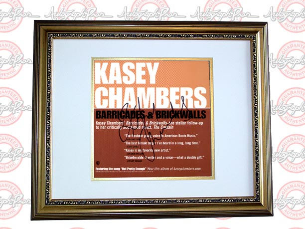 Kasey Chambers Autographed Signed Barricades & Brickwalls Album