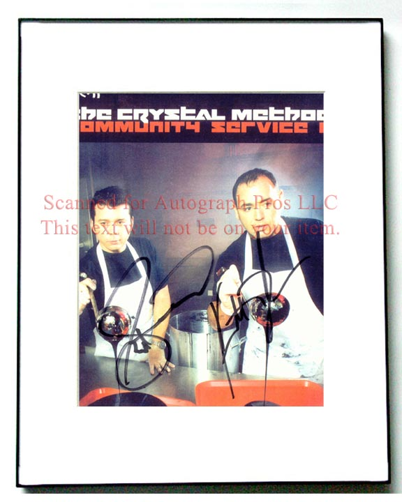 CRYSTAL METHOD Signed Autographed Photo UACC RD   AFTAL