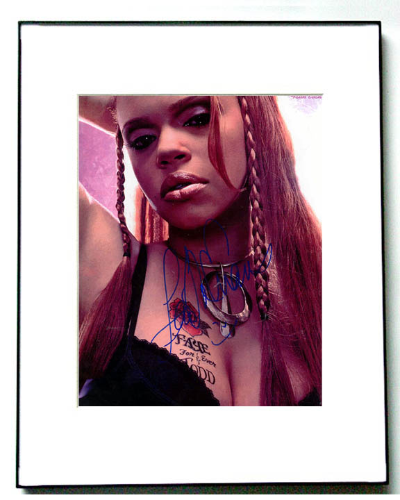 faith evans tattoo. FAITH EVANS Autographed Signed TATTOO CLEAVAGE Photo Close Window.