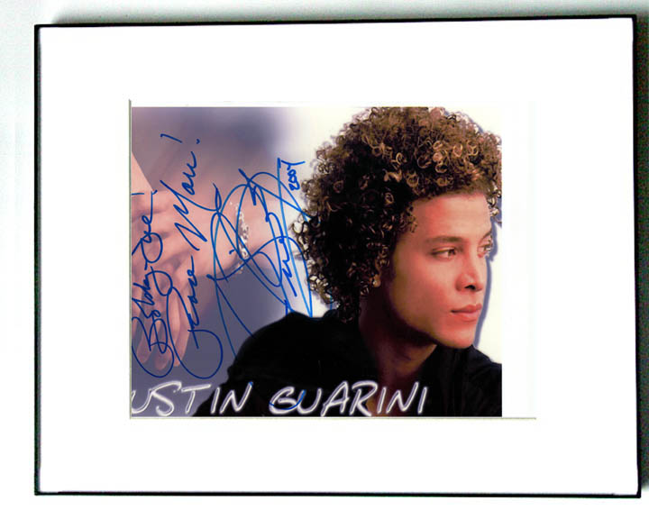 Justin Guarini Autographed Signed Framed Photo   AFTAL