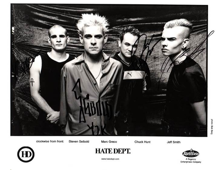 Hate Dept. Autographed Signed Promotional Photo   AFTAL