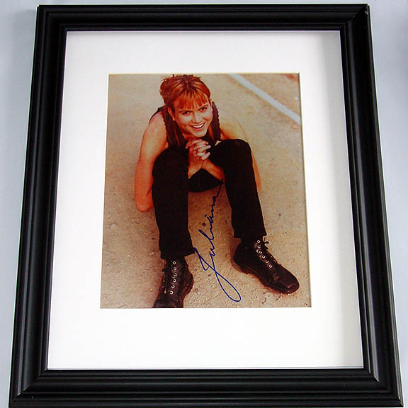 Juliana Hetfield Autographed Signed Framed 11x14 Photo   AFTAL