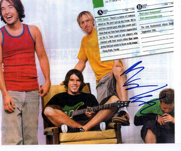 Hoobastank Autographed Signed Photo   AFTAL