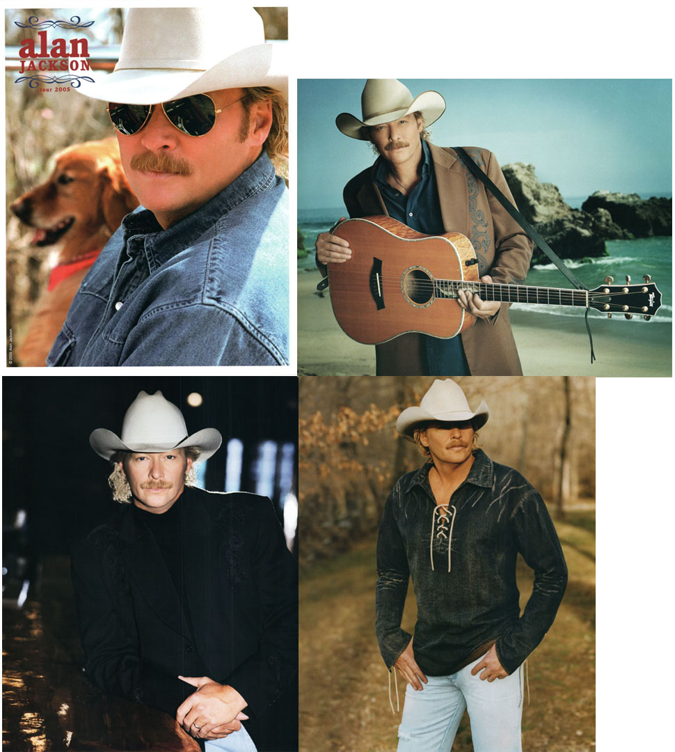 Alan Jackson 25th Anniversary 8x10 4 Photo Folder Lot 05