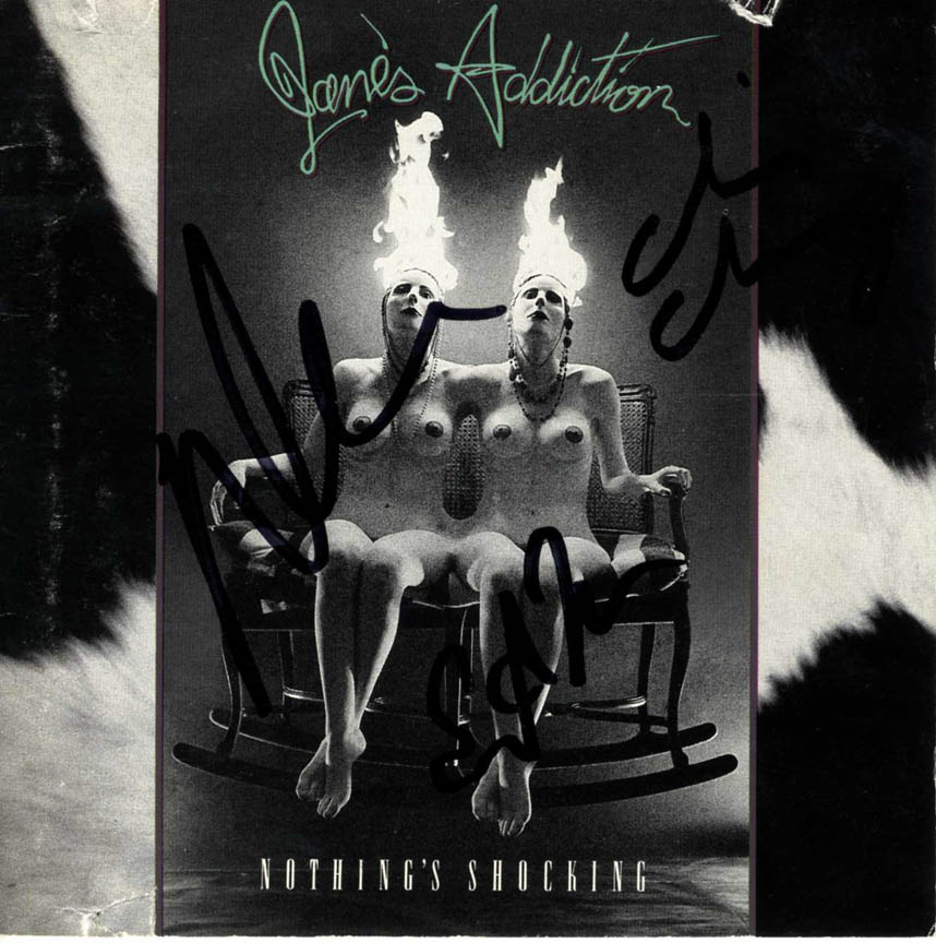 Janes Addiction Autographed Nothings Shocking Signed x3 CD Cover UACC RD COA AFT