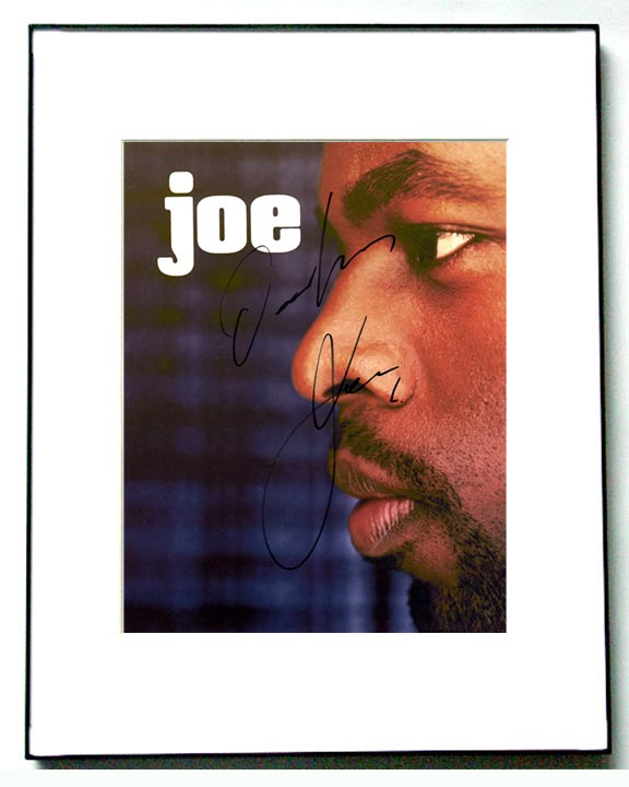 Joe Autographed Signed Profile Photo & Proof   AFTAL