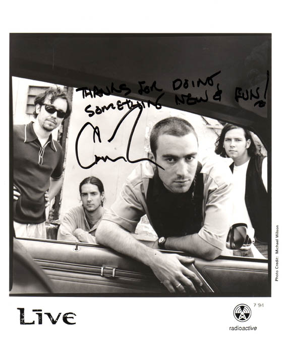 Live Autographed Signed Rare Promotional Photo   AFTAL