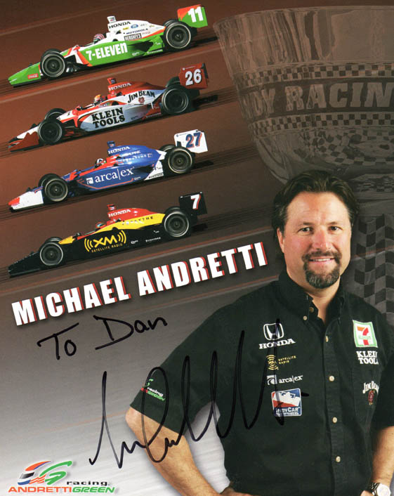 Michael Andretti Autographed Signed 8x10 Racing Photo UACC RD C