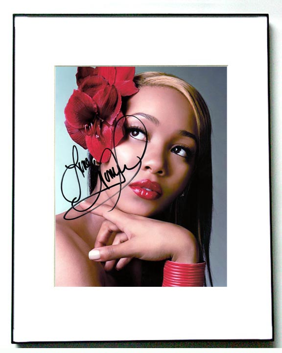 Monica Autographed Signed Red Glamour Photo & Proof
