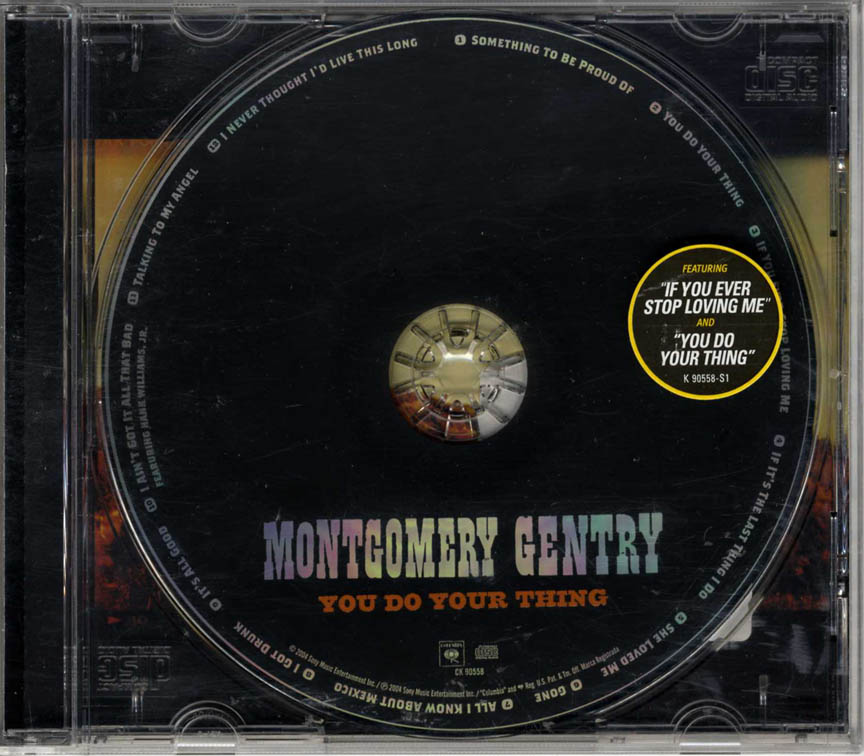 Montgomery Gentry You Do Your Thing CD
