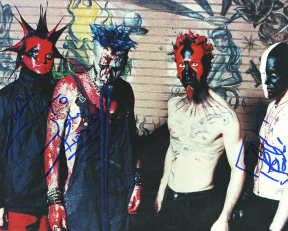 Mudvayne Autographed Signed Photo   AFTAL