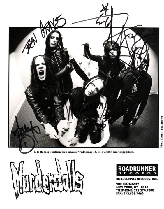 Murderdolls Autographed Signed Promotional Photo   AFTAL