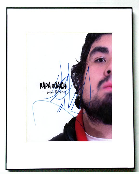 Papa Roach David Buckner Autographed Photo & Proof