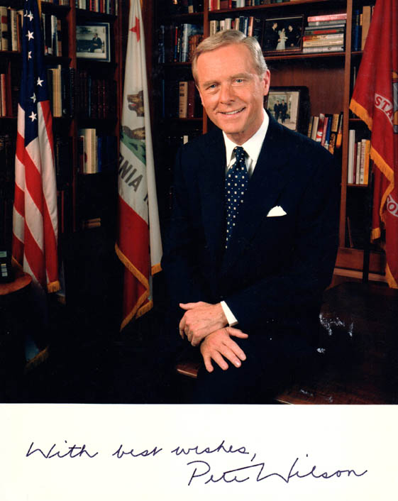 Pete Wilson Autographed Signed 8x10 Former California Governor Photo UACC RD