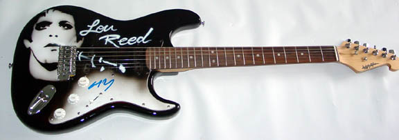 Lou Reed Autographed Airbrush Guitar Velvet Underground JSA UACC RD