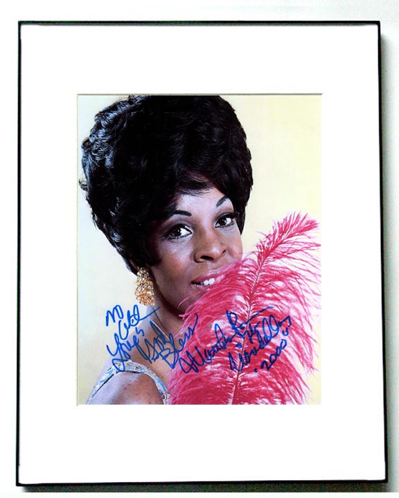 Vandellas Autographed Martha Reeves Signed Framed Photo   AFTAL