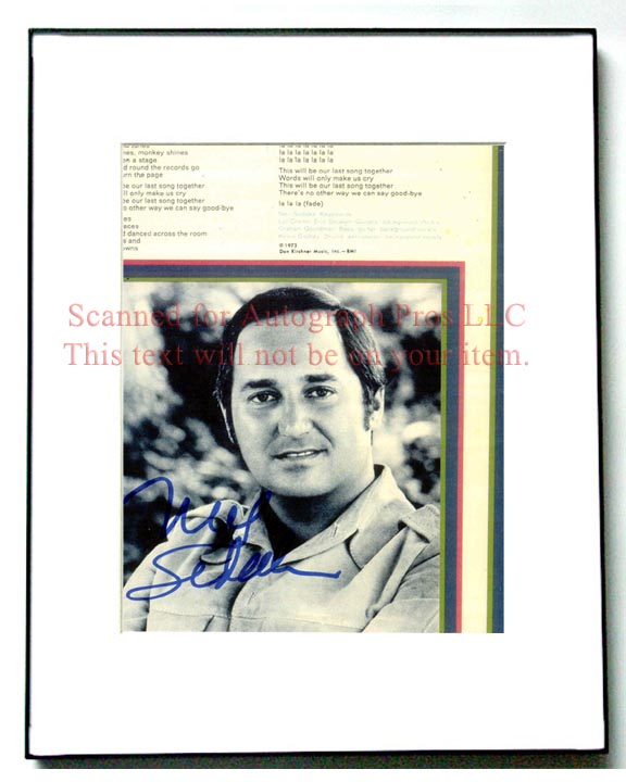 NEIL SEDAKA Autographed Signed Photo UACC RD   AFTAL