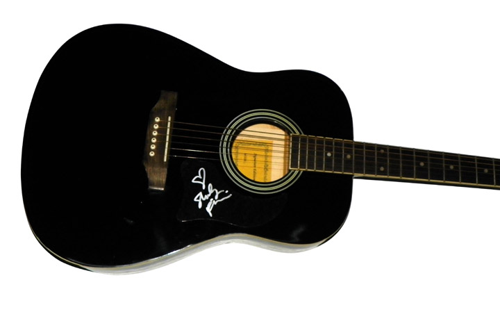 Shelly Fairchild Autographed Signed Black Acoustic Guitar