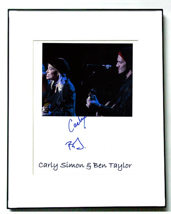 Carly Simon & Ben Taylor Autographed Signed Photo
