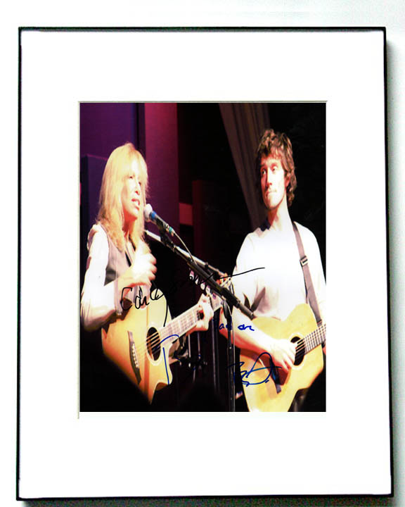 Ben Taylor & Carly Simon Autographed Signed Framed Photo   AFTAL
