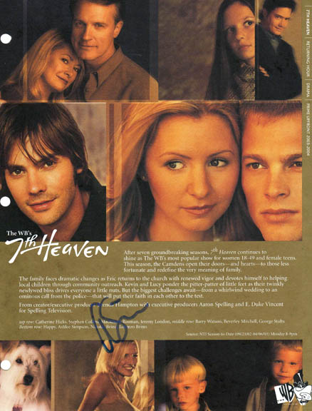 Ashlee Simpson Autographed Signed 7th Heaven Photo Promo   AFTAL