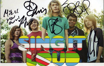 Sing It Loud Autographed Signed Warped Tour Promo Photo   AFTAL