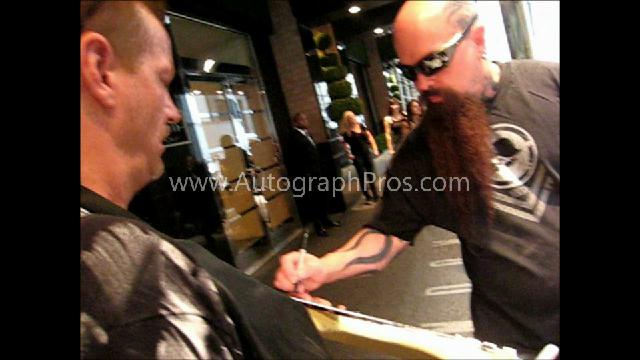 Kerry King Autographed Signed Guitar PSA Exact Video Proof