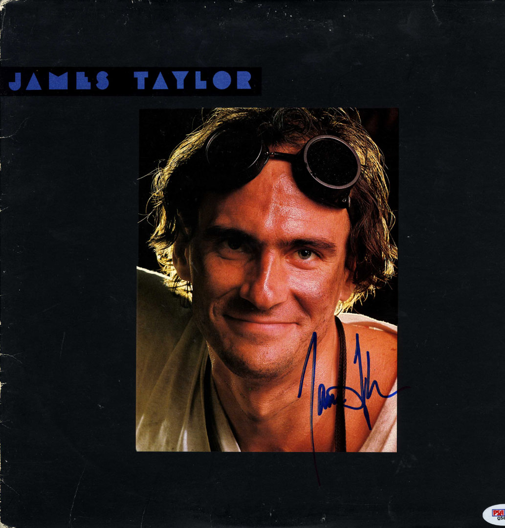 James Taylor Signed Over Dad Loves His Work Album Cover RACC TS AFTAL UACC PSA D