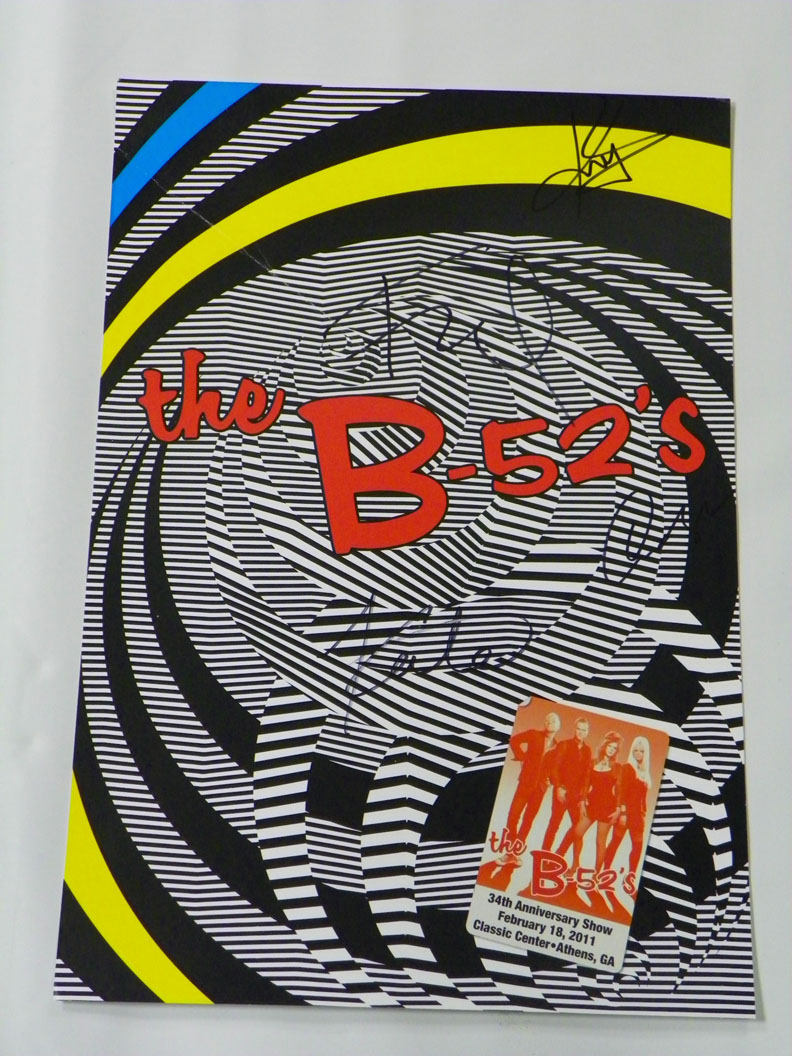 Kate Pierson, Cindy Wilson, Fred & Keith Signed The B-52s Poster