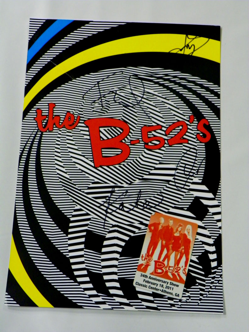 The B-52s Kate, Cindy, Fred & Keith Autographed Signed Poster