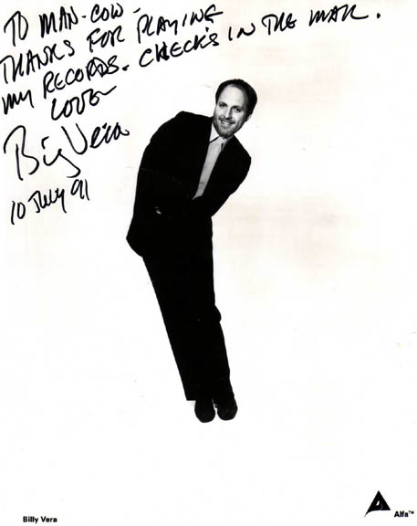 Billy Vera Autographed Signed Promo Photo