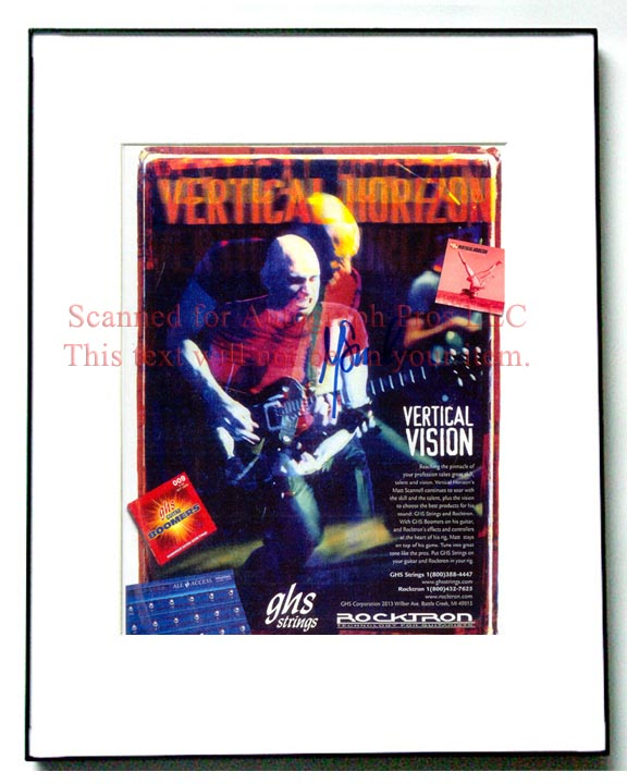 VERTICAL HORIZON Autographed Signed Photo UACC RD