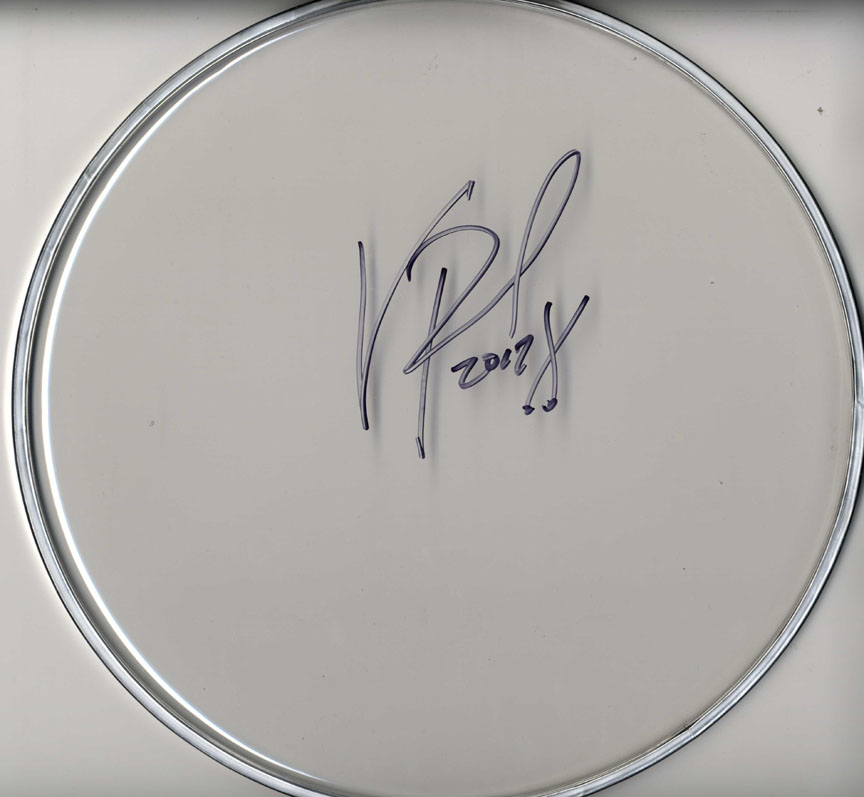 Vinnie Paul Pantera Autographed Signed Clear Drumhead UACC RD AFTAL TS