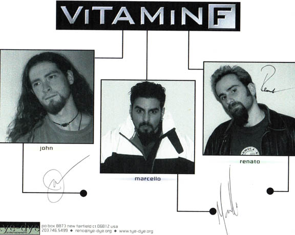 Vitamin F Autographed Signed Photo
