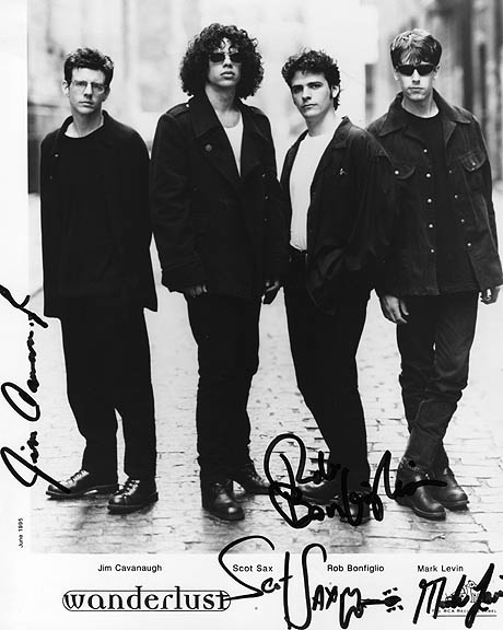 Wanderlust Autographed Signed Full Band Promo Photo    AFTAL