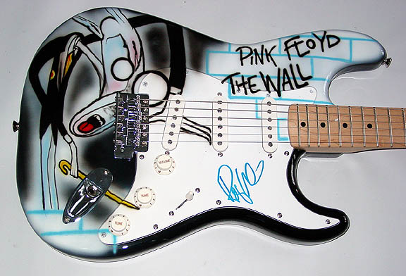 Roger Waters Autographed Signed Pink Floyd Airbrush Guitar UACC RD COA